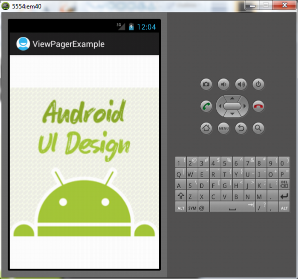 Viewpager example in android   Android Tablayout Example With